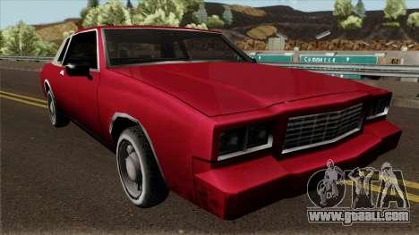 Tahoma Coupe for GTA San Andreas