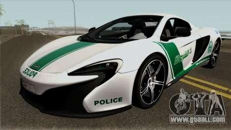 McLaren 650S Spyder Dubai Police v1.0 for GTA San Andreas