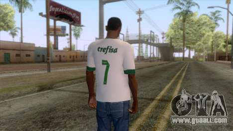 Palmeiras - Away T-Shirt for GTA San Andreas second screenshot