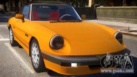 1986 Alfa Romeo Spider 115 v1.0 for GTA 4