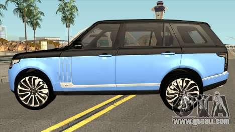 Land Rover Range Rover SVA for GTA San Andreas