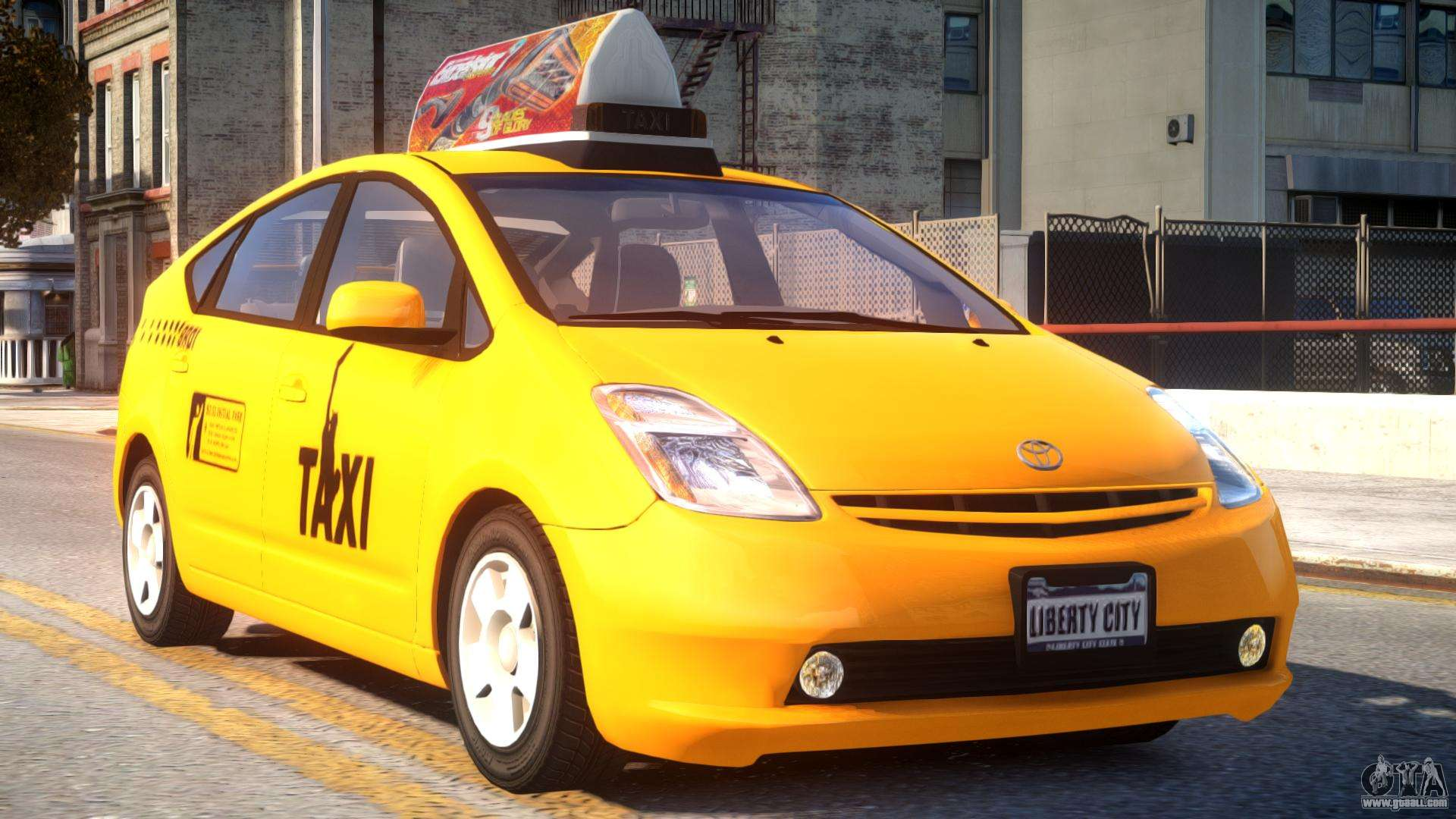 toyota prius ii liberty city taxi for gta 4. Black Bedroom Furniture Sets. Home Design Ideas