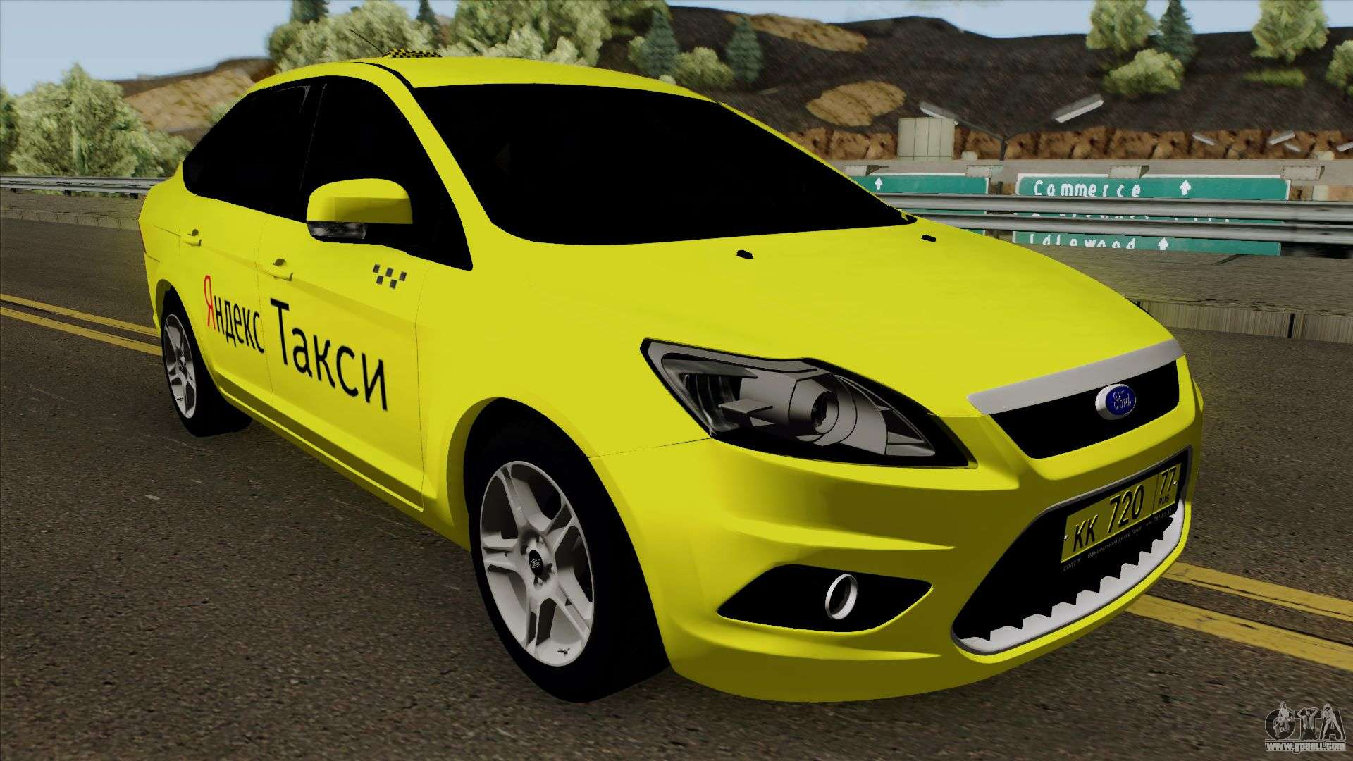 Ford Focus 2 Sedan 2009 Yandex Taxi for GTA San Andreas
