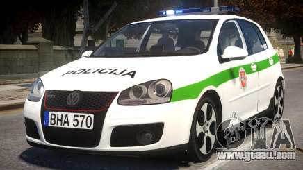 Volkswagen Golf 5 GTI Lithuanian Police for GTA 4