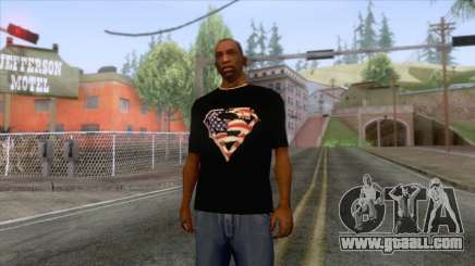 Black Superman USA T-Shirt for GTA San Andreas