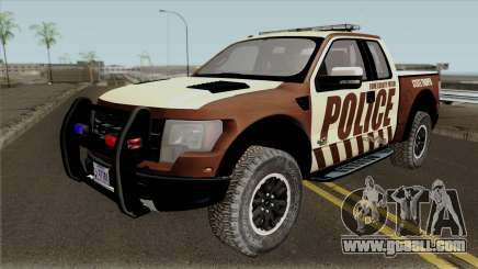 Ford F-150 Raptor 2016 Bone County Police for GTA San Andreas