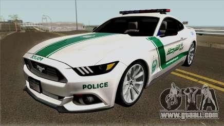 Ford Mustang GT 2015 Dubai Police RedBull Dubai for GTA San Andreas