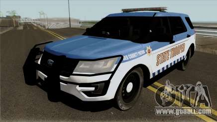 Ford Explorer 2012 Red County Police for GTA San Andreas
