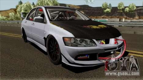Mitsubishi Evolution Tuning Mod for GTA San Andreas inner view