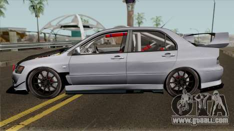 Mitsubishi Evolution Tuning Mod for GTA San Andreas left view