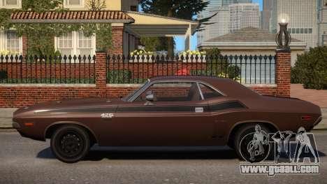 Dodge Challenger 1971 PJ6 for GTA 4