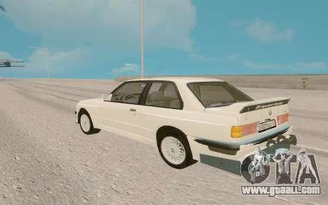 BMW M5 E30 for GTA San Andreas