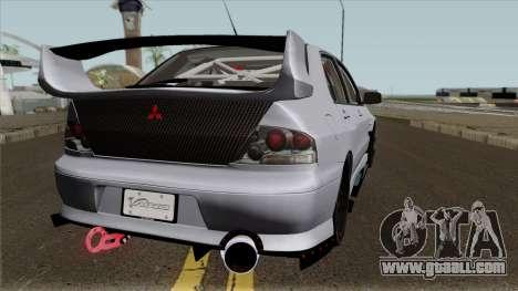 Mitsubishi Evolution Tuning Mod for GTA San Andreas right view