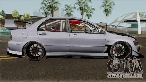 Mitsubishi Evolution Tuning Mod for GTA San Andreas back view