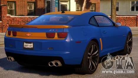 Chevrolet Camaro ZL1 V1.2 for GTA 4