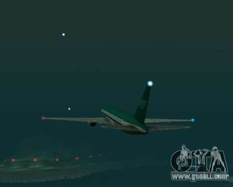 Boeing 767 P27 Teal Colors for GTA San Andreas