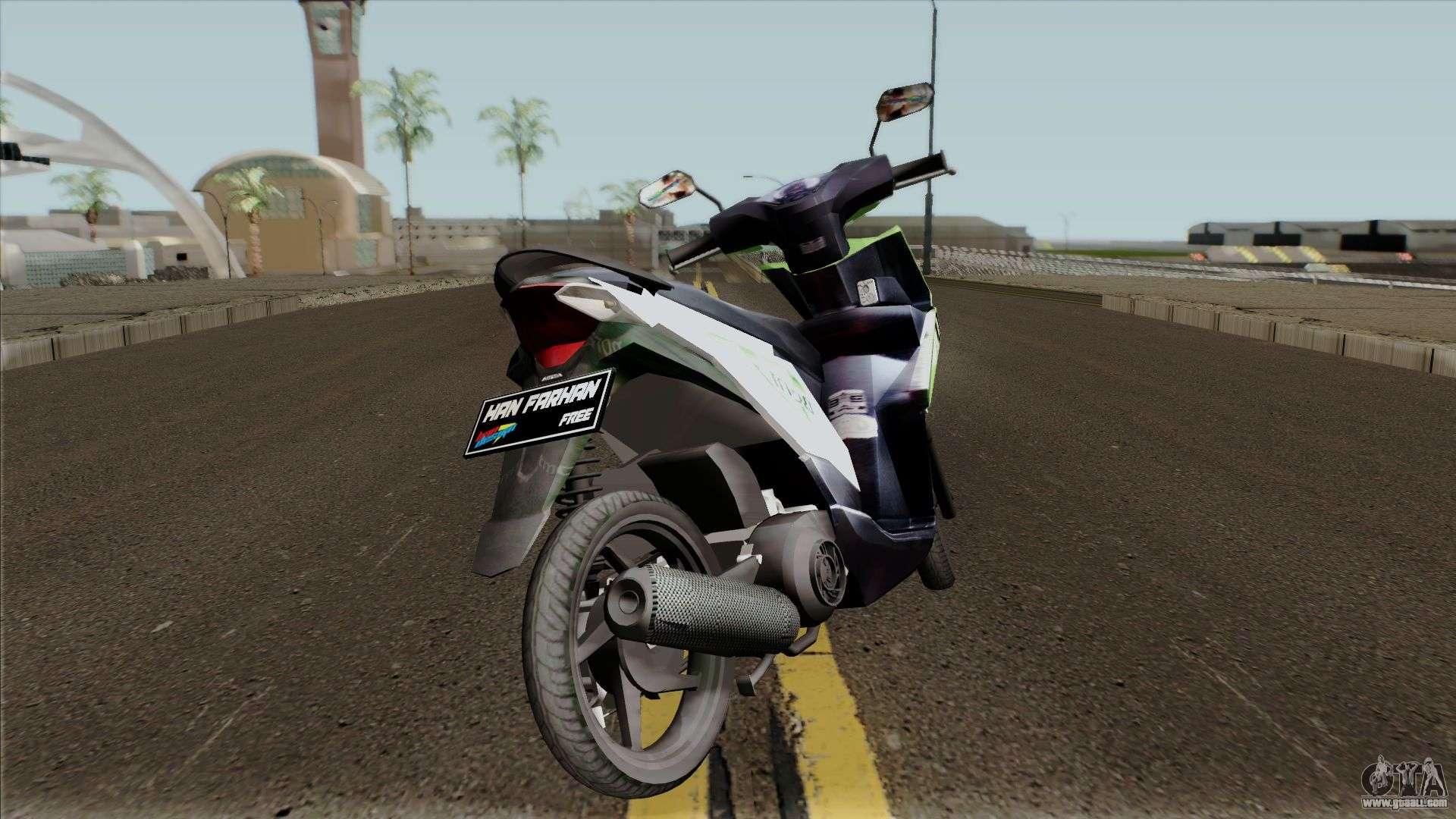 Honda BeAT FI Green STD for GTA San Andreas