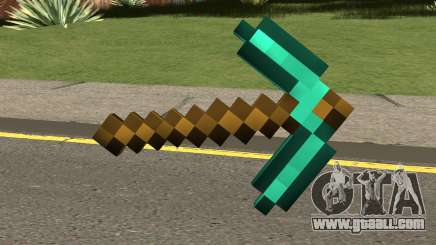 Minecraft Diamond Pickaxe for GTA San Andreas