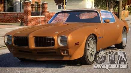1970 Pontiac Trans Am for GTA 4