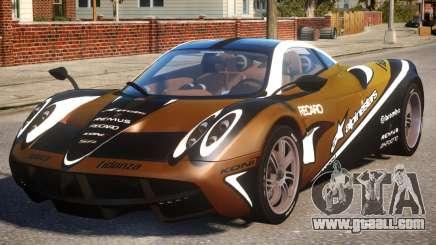 Pagani Huayra Alpinestars for GTA 4