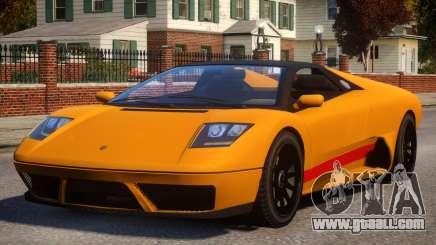 Pegassi Infernus S Roadster for GTA 4