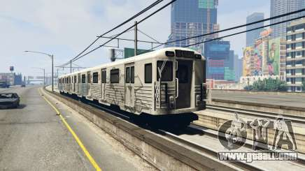 2008 Liberty City Metro Train for GTA 5