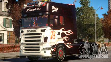 Scania R580 Longline Custom PJ7 for GTA 4
