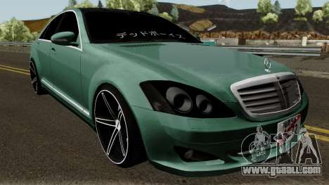 Mercedes-Benz S500 Vossen for GTA San Andreas inner view