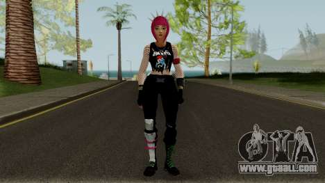Guitarrista (Rockgirl) From Fortnite for GTA San Andreas second screenshot