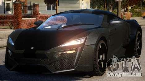 Lykan HyperSport V1.2 for GTA 4
