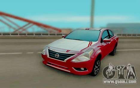 Nissan Versa Sedan 2015 for GTA San Andreas