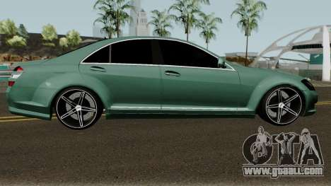 Mercedes-Benz S500 Vossen for GTA San Andreas back view