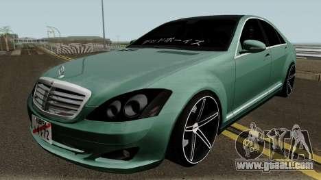 Mercedes-Benz S500 Vossen for GTA San Andreas