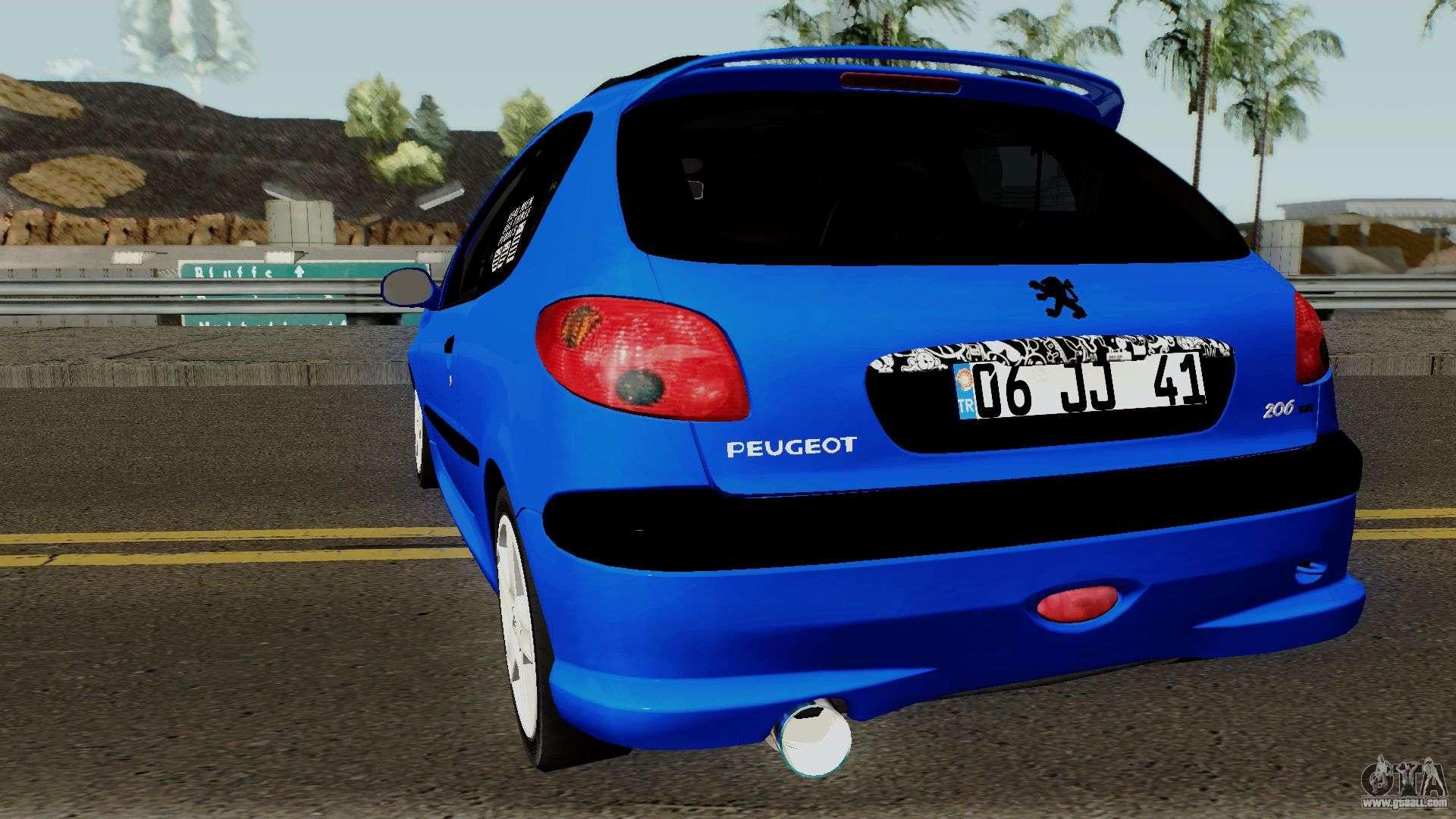 Peugeot 206 Rc For Gta San Andreas