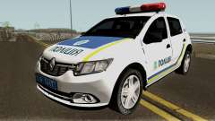 Renault Sandero 2013 Police Of Ukraine for GTA San Andreas
