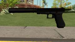 GLOCK-17 Black for GTA San Andreas