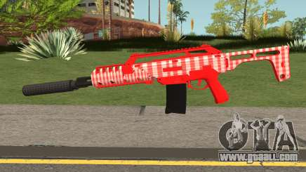 GTA Doomsday Heist Special Carbine Mk.2 Red for GTA San Andreas