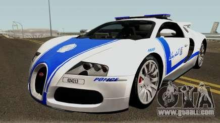 Bugatti Veyron 16.4 Algeria Police 2009 for GTA San Andreas
