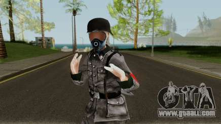 SS Nazi Skin with Gasmask for GTA San Andreas