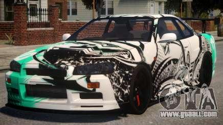 Nissan Skyline GT-R R34 PJ4 for GTA 4