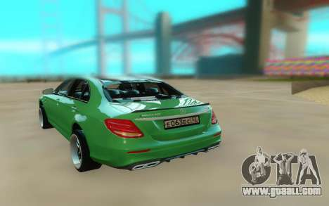Mercedes-Benz E63 W213 Stock for GTA San Andreas