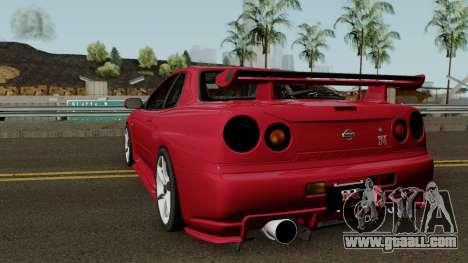 Nissan Skyline GTR R-34 Stock for GTA San Andreas
