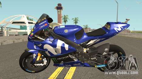 Yamaha YZF M1 2018 for GTA San Andreas left view