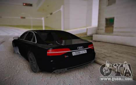 Audi S8L 2015 for GTA San Andreas back left view