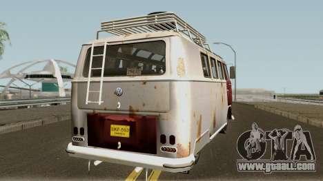 Volkswagen Kombi for GTA San Andreas right view