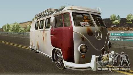 Volkswagen Kombi for GTA San Andreas inner view