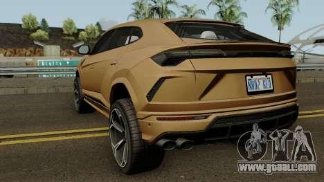 Lamborghini Urus 2018 for GTA San Andreas