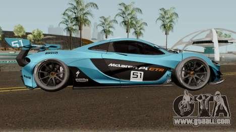 Mclaren P1 GTR 2016 for GTA San Andreas back view