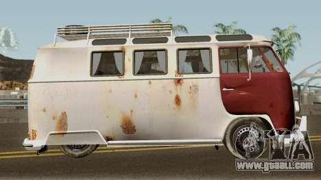 Volkswagen Kombi for GTA San Andreas back view