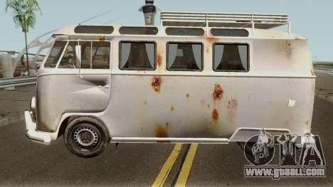 Volkswagen Kombi for GTA San Andreas left view